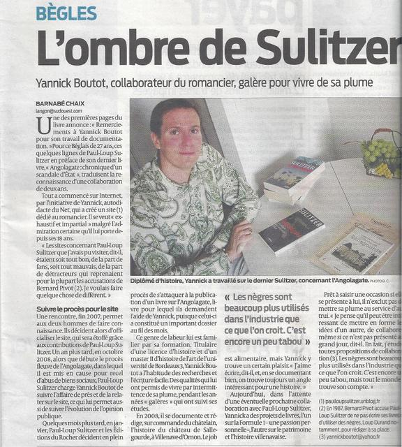 Article Sud-Ouest 27 10 09